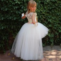 Girl's Dresses Beautiful Flowet Girl Dress For Wedding Birthday Party Gown Layers Tulle Beaded Lace Kids First Communion
