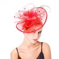 Women British Fascinator Tea Party Hair Clip Bridal Veils Pillbox Hat Bowler Retro Wedding Veil Beads Hairdress Accessory Kentucky Headbands AL9267