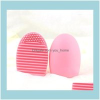 Home & Garden High Quality Other Household Sundries Egg Cleaning Glove Makeup Washing Brush Scrubber Board Cosmetic Brushegg Clean Tool 2I7F