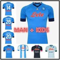 20 21 NAPOLI Soccer Jersey Napoli Camicia da calcio 2021 Koulibaly Camiseta de Futbol Insigne Milik Maillots H.lozano Mertens Uomo