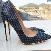 2021 mulheres sapatos de salto alto sapatos dedos apontados Bombas de veludo Stiletto saltos deerskin deerskin raso de casamento único sapato altura 10 cm 8cm 12cm grande tamanho pequeno euro34-45