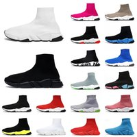 socks shoes designer casual shoes 2021 최신 도착 평면 캐주얼 양말 신발 남성 여성 러너 트리플 블랙 빈티지 낙서 운동화 파리 플랫폼 디자이너 Luxurys 트레이너 스포츠 신발 36-45
