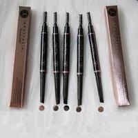 Un crayon à sourcils imperméables @ Stasia 5 couleurs avec brosse de peigne 2 en 1 maquillage de la fondation Brows d'œil automatique Gel Maquiagem
