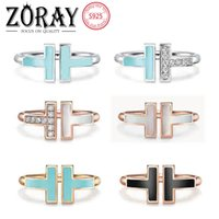 TIFF 925 Sterling Silver Silver Banding Bandings, Brand Classic Mère-de-perles Double Ting T