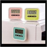Timers numériques Count Cuisine Nombre Downup LCD Affichage Timer Pays Cuisson Rappel avec support magnétique WB1881 D0XCP AJKYLY
