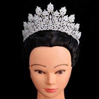 Tiaras et Crowns Hadiyana Classic Mode Design Bridal Cheveux Accessoires Anniversaire Femmes De Mariage BC5070 Corona Princesa 210616