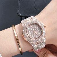 Designer Luxus Marke Uhren Uxy Nolided Diamond Edelstahl Frauen ES Einfacher Kalender für Trenduhr Relogio Feminino Dropship