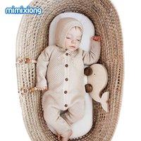 الطفل السروال القصير كم طويل الرضع بنين بنات حللا الملابس الخريف الصلبة محبوك الوليد طفل الاطفال وزرة قطعة واحدة 853 x2