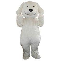 Dia das bruxas desenhos animados branco cão Natal adulto mascote fantasia vestido vestido propfit festa de aniversário fábrica direta