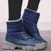 Mode Schaffell Wasserdichte Pelz gefüttert Frauen Casual Kurze Knöchel Winterstiefel Für Damen Schnürschuhe Schneeschuhe Schuhe Jungenstiefel Mode Schuhe E6Cl #