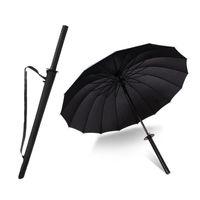 Marke Männer Langer Griff Samurai Regenschirm Stilvolle Schwarz Japanisch Ninja Schwert Katana Große Winddichte Regenschirme