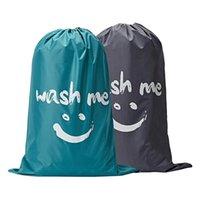 Wäscheservier-Taschen 2 stücke Wash Me-Tasche, Tränen-beständiges schmutzige Kleidung Lagerautomat Waschbar, Hochleistungs-Hamper-Liner