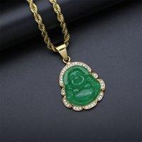 Кубический Zircon Maitreya Будда кулон ожерелье для женщин мужчин веревка цепь большой животный будда ожерелье хип-хоп ювелирные изделия рождественские подарки 823 R2