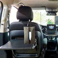 Косметические сумки Чехлы обратно Холст Бумажная крышка Покрытие полотенце Подвесная сумка из автомобильного сиденья