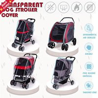 (Only Cover)Outdoor Pet Stroller Cover Dog Cat Car Teddy Puppy Out Of The Cart Outer Shade Glare Baby Carriage Rainproof Seat Covers