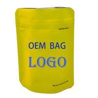 Mylar Swam Доказательство OEM Candy Bag Candy Studized E-Cigarette Пакет Прозрачные пластиковые пакеты Печатные наклейки логотипа 3.5G Детская уборка на заказ сумка