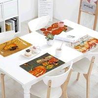 Tavolo Tovagliolo Regali di Halloween Tappetino da cucina Decorazione Cucina Sunflower Tannolini da sposa Placemat Placemat Accessori da pranzo