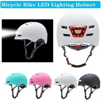 Calque de vélo Casque de vélo MTB Road Bikes Helmets Intégrally-Moule Éclairage à LED réfléchissant EPS + CLASSE CYCLING PC CASCO CICLISMO CAP