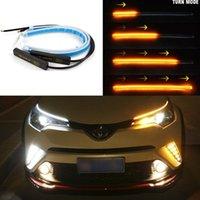 Şeritler 2x Ultra Head Arabalar LED Gündüz Çalışan Işıklar Oto Akan Dönüş Sinyal Kılavuzu Şerit Far Montaj Araba Styling Aksesuarları