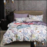 Ensembles de fournitures textiles maison jardinbonenjoy luxe 100% égyptien 60s de coton de coton lin queen size size lit er erdds numérique imprimé litdin