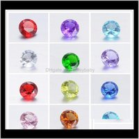 Findings & Components Jewelry Drop Delivery 2021 Crystal Birthstones Floating Locket Charms Mix Color 4Mm Round Glass 500Pcs Lot Qt58J