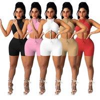 Kadın Yoga Seksi Yelek Şort 2 Parça Setleri Kırpma Tops Bandaj Eşofman Artı Boyutu 2XL Yaz Giyim Mürettebat Boyun Kolsuz Joggers Suits Capris Kıyafetler DHL 4863