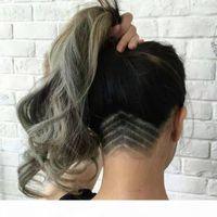 Cabelo Humano Cinzento Prata Cabelo De Cabelo De Cabelo Para As Mulheres Senhora Onda Corporal Curly Cordilheira Mulheres Rabotail Humano Extensão Real Brazilian Human Hair