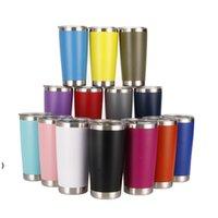 20 oz paslanmaz çelik bardak araba fincan su şişesi çift duvar şarap kadehi tumblers yalıtımlı bira kapak seyahat kahve kupalar OWB8649