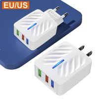 Universal 5V 2.4A Fast chargers Eu US AC Home Travel Power Adapter 1 2 3 usb Ports Wall Charger For iphone 7 8 11 12 Samsung lg android phone pc mp3