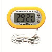 Профессиональный зонд аквариум холодильника термометр термограф инструмент желтый цвет мини цифровой ЖК-модальзор температура для холодильника -50 ~ 110 градусов FY-10
