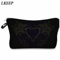 2019 Love Heart Pattern Women Clutch Cosmetic Bag Make Up Organizer Fashion Women Printing Multifunction Portable Makeup Bags N9GP#