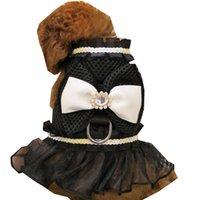 Abiti da pet bowknot abiti guinzagli abiti sexy pizzo pets gilet cane abbigliamento estate traspirante teddy da cani vestiti