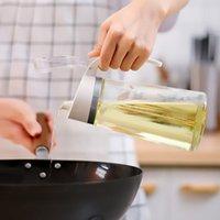 Cozinha 628 ml óleo comestível pode molho de soja vinagre garrafa de tempero flavor à prova de vazamento de tanque de tanque perfumado
