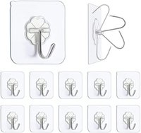 Self Adhesive Wall Hooks Seamless Stickers Transparent Strong Wall-mounted Door Hangers Hook Suction Heavy Load Rack Cup Sucker for Kitchen Bathroom