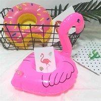 Bebidas infláveis titular copo dos desenhos animados coaster canecas tapinha filhós donut flamingo melancia limão em forma de piscina flutua banheira flutuante brinquedos balão água bola g71an1j