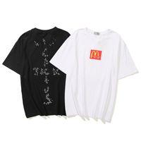 Yaz Sokak Moda Travis Scott 100% Pamuk Erkekler Rahat Ekip T Shirt Kaktüs Jack Hip Hop Rap Boy Tee