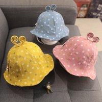 Bebê macio Sun Chapéu Com Orelhas Bonito dos Desenhos Animados Bebê Meninas Bucket Chapéu Chapéu Chapéu Crianças Panamá Beach Caps Bonnet 1074 x2