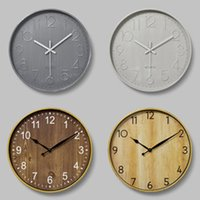 12 Inches Round Mute Digital Scale Wall Clock 3D Living Room Bedroom Walls Clocks Home Rooms Decor Hanging Punch ZXFHP1205