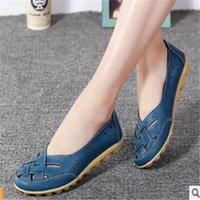 Большой размер 36-44 птичьего туфли с птичьим гнездами для женщин сандалии летние одиночные ботинки горох кожа повседневная женщина средняя мать комфортно