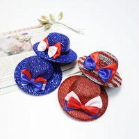 4 juli haarclips vrouwen kinderen mini-top hoed onafhankelijkheidsdag decoratieve patriottische partij hoofddeksels decoraties