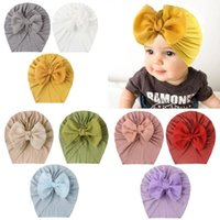Caps & Hats Cute Big Bow Knot Flowers Hat Kids Baby Infant Turban For Toddler Girls Beanie Headwraps Birthday Gift Po