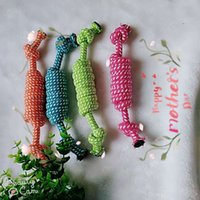 Dog Toys Pet candy bite resistant cotton knot toy hand-made mouse type cotton knot cotton rope knitting pet toy ball
