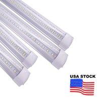 LED Tube Light 8Ft V Shape Integrate 4ft 5ft 6ft 8 feet T8 Dual SMD2835 Tubes Cool Lighting Strip Bar Fixture USALIGHT