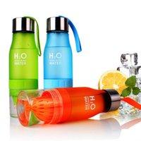 Bunte mattierte Kunststoff-Tumbler-Zitrone-Früchte-Werbung kreative Geschenkflasche Praktische Saftschale 650ml