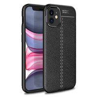 Auto Focus Leather Style Ultra Slim Soft TPU Cell Phone Fodral för iPhone 11 12 13 Pro Max XR X 7 8Plus