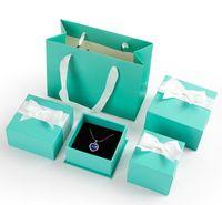 Fashion Beauty Jewelry Box imballaggio per anelli collane orecchini blu bianco verde carino bow box borse borse