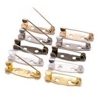 50 pz / lotto 15 20 25 30 30 35 mm Spille Pins Base Pins Spilla di sicurezza Impostazioni Pin Blank per gioielli fai da te Making Forniture
