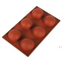 Demi-Sphere Silicone Savon Moules de cuisson de cuisson de cuisson Outils de décoration de gelée Pudding Jelly Fondant Fondant Formation Forme Boule Bougène Outil BWE6571