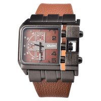 Marka Orijinal Moda Tasarım Dikdörtgen Saatler Erkekler Geniş Deri Kayış Rahat Kuvars İzle Reloj Hombre Deportivo 2021 Saatı