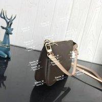Pochette Accessoires 숄더백 클러치 저녁 멋진 캔버스 일일 핸드백 미니 파우치 51980 작은 가죽 Womens Dust Brown NMWTK